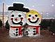 Hay bale decorations greet visitors